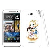 Snooky 38977 Digital Print Mobile Skin Sticker For HTC Desire 616 - White
