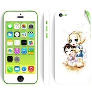 Snooky 39061 Digital Print Mobile Skin Sticker For Apple Iphone 5C - White