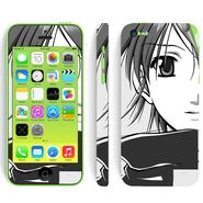 Snooky 39062 Digital Print Mobile Skin Sticker For Apple Iphone 5C - Gray