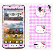 Snooky 39092 Digital Print Mobile Skin Sticker For Lenovo A850 - Pink