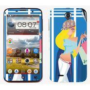 Snooky 39095 Digital Print Mobile Skin Sticker For Lenovo A850 - Blue