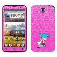 Snooky 39099 Digital Print Mobile Skin Sticker For Lenovo A850 - Pink