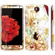Snooky 39101 Digital Print Mobile Skin Sticker For Lenovo S820 - White