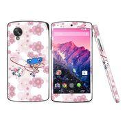 Snooky 39172 Digital Print Mobile Skin Sticker For LG Google Nexus 5 - White