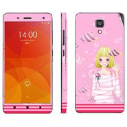 Snooky 39204 Digital Print Mobile Skin Sticker For Xiaomi Mi4 - Pink