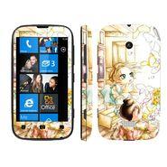 Snooky 39221 Digital Print Mobile Skin Sticker For Nokia Lumia 510 - White