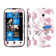 Snooky 39232 Digital Print Mobile Skin Sticker For Nokia Lumia 510 - White