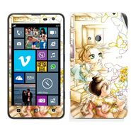 Snooky 39257 Digital Print Mobile Skin Sticker For Nokia Lumia 625 - White
