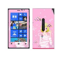 Snooky 39276 Digital Print Mobile Skin Sticker For Nokia Lumia 920 - Pink
