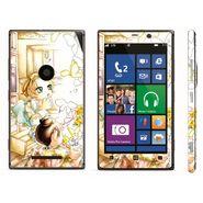 Snooky 39281 Digital Print Mobile Skin Sticker For Nokia Lumia 925 - White