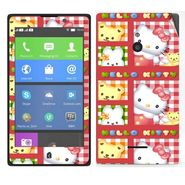 Snooky 39306 Digital Print Mobile Skin Sticker For Nokia XL - Pink