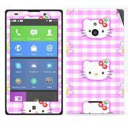 Snooky 39308 Digital Print Mobile Skin Sticker For Nokia XL - Pink