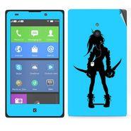 Snooky 39310 Digital Print Mobile Skin Sticker For Nokia XL - Blue
