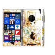 Snooky 39317 Digital Print Mobile Skin Sticker For Nokia Lumia 830 - White