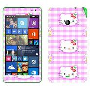 Snooky 39332 Digital Print Mobile Skin Sticker For Microsoft Lumia 535 - Pink