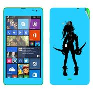 Snooky 39334 Digital Print Mobile Skin Sticker For Microsoft Lumia 535 - Blue