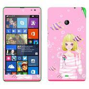 Snooky 39336 Digital Print Mobile Skin Sticker For Microsoft Lumia 535 - Pink