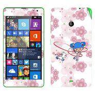 Snooky 39340 Digital Print Mobile Skin Sticker For Microsoft Lumia 535 - White