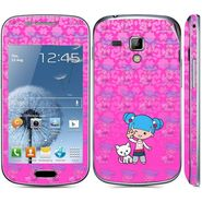 Snooky 39411 Digital Print Mobile Skin Sticker For Samsung Galaxy S Duos 7562 - Pink