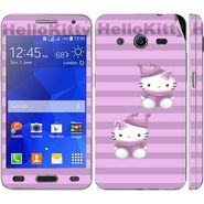 Snooky 39439 Digital Print Mobile Skin Sticker For Samsung Galaxy Core 2 G355h - Purple