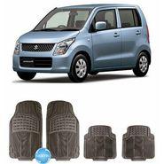 Digitru - Car Rubber Foot Mat Wagon R (Black) _ DG20150126