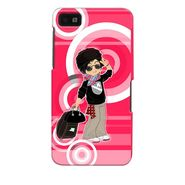 Snooky 35348 Digital Print Hard Back Case Cover For Blackberry Z10 - Rose Pink