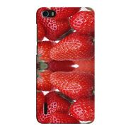 Snooky 37459 Digital Print Hard Back Case Cover For huawei honor 6 - Red
