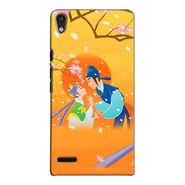 Snooky 38268 Digital Print Hard Back Case Cover For Huawei Ascend P6 - Orange