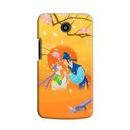 Snooky 38518 Digital Print Hard Back Case Cover For Lenovo A820 - Orange