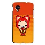 Snooky 35991 Digital Print Hard Back Case Cover For LG Google Nexus 5 - Orange