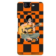 Snooky 35396 Digital Print Hard Back Case Cover For Micromax Canvas Knight A350 - Black