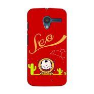 Snooky 35861 Digital Print Hard Back Case Cover For Motorola Moto X - Red