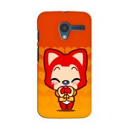 Snooky 35891 Digital Print Hard Back Case Cover For Motorola Moto X - Orange