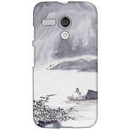Snooky 38565 Digital Print Hard Back Case Cover For Motorola Moto G - Grey