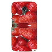 Snooky 38659 Digital Print Hard Back Case Cover For Motorola Moto G 2nd Gen - Red