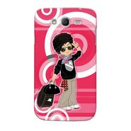 Snooky 35548 Digital Print Hard Back Case Cover For Samsung Galaxy Grand Duos I9082 - Rose Pink