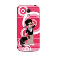 Snooky 35748 Digital Print Hard Back Case Cover For Samsung Galaxy S4 Mini I9192 - Rose Pink