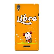 Snooky 36985 Digital Print Hard Back Case Cover For Sony Xperia T3 - Yellow
