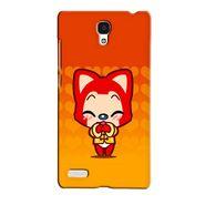 Snooky 36091 Digital Print Hard Back Case Cover For Xiaomi Redmi Note - Orange