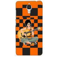 Snooky 38427 Digital Print Hard Back Case Cover For Xiaomi MI 4 - Black