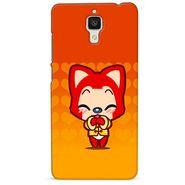 Snooky 38461 Digital Print Hard Back Case Cover For Xiaomi MI 4 - Orange
