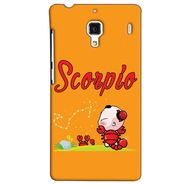 Snooky 38484 Digital Print Hard Back Case Cover For Xiaomi Redmi 1S - Yellow