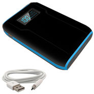 UNIC 12000mAh with Display Dual USB Powerbank Portable Charger for Mobile Tablet UN44 - Black