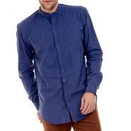 Bendiesel Plain Cotton Shirt_Bdcc023 - Dark Blue