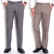 Pack of 2 Fizzaro Cotton Trouser_Ft102101 - Grey & Brown