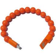 Flashmob C417CC Bracelet Type Micro USB Charging Cable - Orange