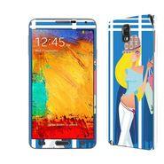 Snooky 39479 Digital Print Mobile Skin Sticker For Samsung Galaxy Note 3 N9000 - Blue