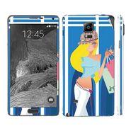 Snooky 39491 Digital Print Mobile Skin Sticker For Samsung Galaxy Note 4 - Blue