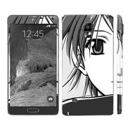 Snooky 39494 Digital Print Mobile Skin Sticker For Samsung Galaxy Note 4 - Grey