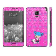 Snooky 39507 Digital Print Mobile Skin Sticker For Samsung Galaxy Note EDGE - Pink